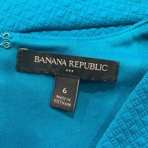 Banana Republic Tops - Banana republic teal sleeveless peplum blouse Sz 6